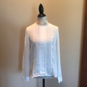 NWT JCrew blouse in ivory silk! Gorgeous! SZ 10!